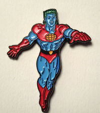 "Captain Planet Cartoon Show Cloisonne 1.25"" Pin- FREE S&H (ANPI-CP)"