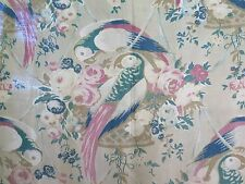 "Antique Vintage c.1920 Bird Toile Fabric~1yd11""LX29""W~Framing"