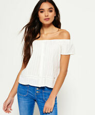 Superdry Womens Marina Bardot Button Top