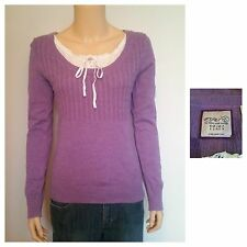 ESPRIT Thin Knit Purple Jumper Ladies Size S VGC