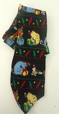 WINNIE THE POOH Disney Christmas Presents Multicolored Silk Mens Neck Tie