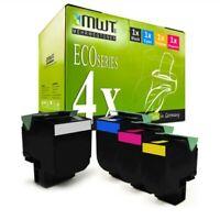 4x Eco Tóner XXL para Lexmark CS-510-dte CS-510-de CS-310-n CS-410-dtn CS-410-dn