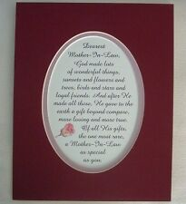 MOTHER IN LAW Special FRIENDS Loving RARE True GOD MADE Dear verses poem plaques