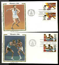 """U.S. FDC  #2048-2051 Set of 4 Colorano """"Silk"""" Cachet South Bend, IN  Olympics"""