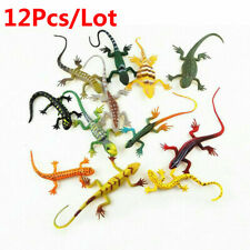 12Pcs/Lot Simulation Lizards Plastic Forest Wild Animal Model Figures Collection