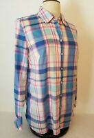 Talbots Womens M Medium Long Sleeve Button Front Plaid Shirt
