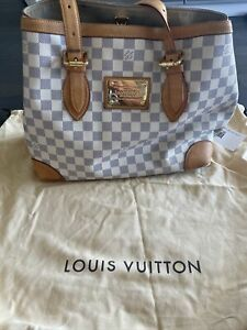 Louis Vuitton Hampstead Damier Azure MM White Purse