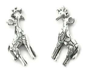 Silver or Gold Giraffe Charms Pendant Animal Charm Necklace Bracelet Charm 20mm