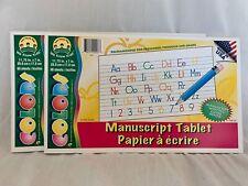 MANUSCRIPT PAD 2 PADS 60 PAGES EACH W/MANUSCRIPT WRITING GUIDE PREK - 2ND GRADE