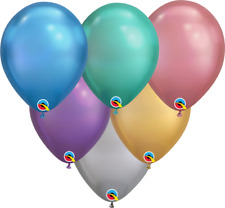 "SALE! 11"" NEW Qualatex Chrome Colors Latex Balloons (25 ct)"