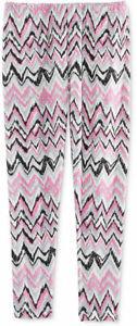Epic Threads Girls Glitter Graphic-Stripe Leggings Dk Grey Heather Small