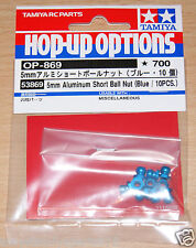 Tamiya 53869 5mm Aluminum Short Ball Nut (Blue/10 Pcs.) (TA06 Pro/TA07 Pro), NIP