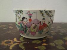 19th CENTURY Chinese Qing TONGZHI Famille Rose porcellana Vaso Ciotola