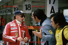 Niki Lauda & Ferrari Mauro Forghieri alemán Grand Prix 1977 fotografía