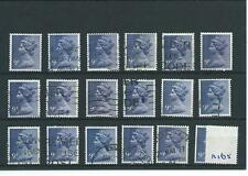 GB - WHOLESALE - MACHIN DEFINITIVES - MA165. 9p DEEP VIOLET - 18  COPIES - USED