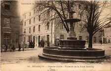 CPA  Besancon - Caserne Conde - Fontaine de la Place Marulaz  (487019)