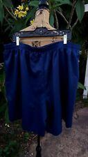 Paradise Bay Plus Womens 3X Navy Blue Elastic Waist Polyester Shorts