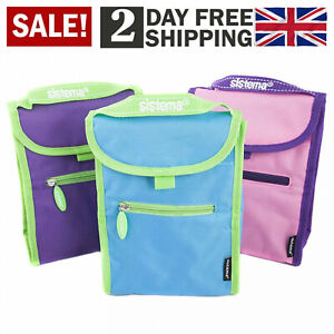 Sistema Fold Up Insulated Lunch Cooler Bag Though School Original Assorted Color