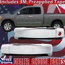 Fits 2004-2015 TITAN 2004-2014 ARMADA Chrome Door Handle COVERS W/O PSK 2DR