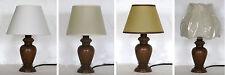 Lampada abat jour lumetto da comodino in legno tornito col noce Made in Italy