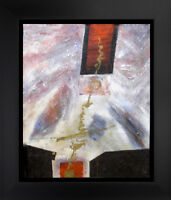 Abstract Hand Painted Oil on Canvas 20x24  The Red Spot