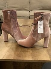 Mossimo Thelma Pink Velvet Sock Boots/ Booties Women's Size: 10- New 096101154