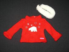 Genuine American Girl Doll Clothes Polar Bear Holiday Sweater et bandeau