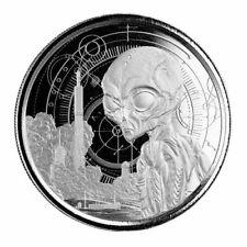 2021 1 oz Ghana Alien Silver Coin .999