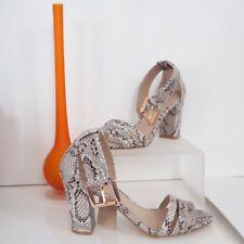 STUNNING New Carvela Elegant Snake skin block heel strappy sandal