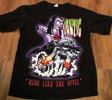 "2013 American Heavy Metal Band Glenn Danzig ""Ride Like the Devil"" Shirt Medium"