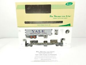 S-HELPER SHOWCASE LINE 00305-2 TOFC New Haven Flat Car w/ YALE Trailer S Ga NIB!