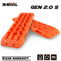 X-BULL Recovery Traction Tracks Sand Snow Mud Tire Ladder 4WD 2GEN-S 2PCS Orange