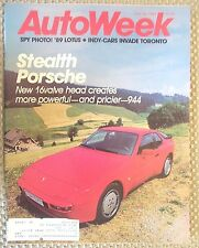 AutoWeek July 21 1986 Ferrari GTO II, Bugati Royale, M-B 560SL, Michael Andretti