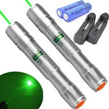 New listing 2x 900Mile Green Laser Pointer Pen 532nm Visible Beam Light Rechargeable+Charger