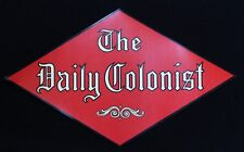 Vintage Newspaper Advertising Decal Daily Colonist Victoria BC 1950's