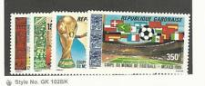Gabon, Postage Stamp, #C278-C281 Mint Hinged, 1986 Football, Soccer