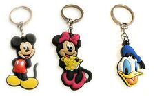 lot of 3 classic new ,old stock  MICKEY + Minnie And Donald vintage keychains