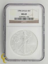 1996 Silver 1 oz American Eagle $1 NGC Graded MS-69