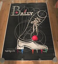 More details for original vintage poster 1980s bally shoes 46