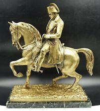 19th Century Italian Gilt Bronze Equestrian Napoleon Bonaparte Military Parade