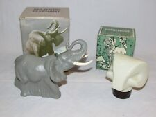 Vintage 1970's Avon Majestic Elephant & Ram's Head After Shave w/Boxes Full Nos