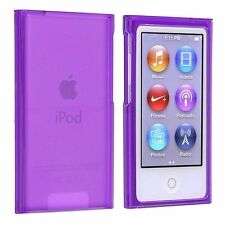 Case Hard Case Cover Protection Purple Crystal Ipod Nano 7G 7 G+Film