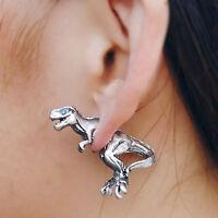 1pcs Funny Silver Dinosaur earring T-rex earring tyrannosaurus rex ear stud Y5Y1