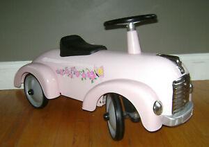 MORGAN CYCLE KIDS GIRLS STEEL PINK RACER RIDE ON TOY PUSH CAR VERY RARE