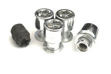 (4) 7/16 MAG WHEEL LOCKS WITH (1) PUZZLE KEY ANTI THEFT SECURITY LUG NUTS
