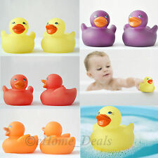4 PCS Squeaky Rubber Colour Changing Shower Ducks Baby Bath Fun Toy Play Kids