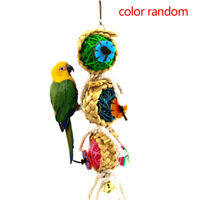 Parrot Toys Ball Pet Bird Bite Climb Chew Hanging Cockatrice Swing Parrot Toy D#