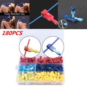 180PCS T-Tap Electrical Wire Crimp Terminals Quick Splice Cable Connectors W/Box