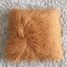 40 x 40 cm Mongolian Long Curly Wool Sheepskin Cushion Pillow & Cushion Inner