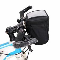 Bike Bicycle Portable Bag Cycling Handlebar Bar Bag Quick Release Front Basket